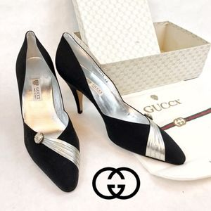 GUCCI | NEW WITH BOX LEATHER HEELED PUMPS